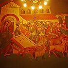 Frescoes, Serbian Orthodox Church of Sts Cyril and Methodius, Ljubljana, Slovenia by Margaret  Hyde
