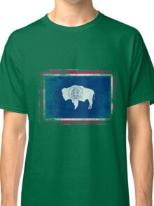 Wyoming State Flag Distressed Vintage Shirt Classic T-Shirt
