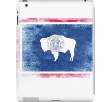 Wyoming State Flag Distressed Vintage Shirt iPad Case/Skin