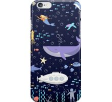 Under the sea / whale, delphine and mermaid adventure  iPhone Case/Skin