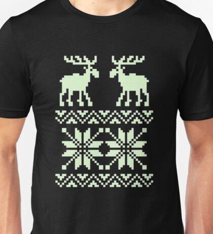 Moose Pattern Christmas Unisex T-Shirt
