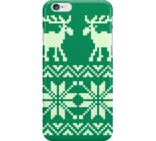 Moose Pattern Christmas iPhone Case/Skin