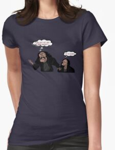 I DID NOT HIT HER - OH HI MARK - THE ROOM T-SHIRT Womens Fitted T-Shirt