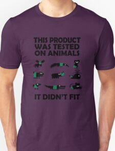 PRODUCT tested on animals Unisex T-Shirt