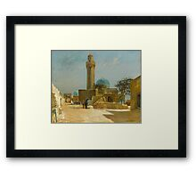 Olaf Viggo Peter Langer (Leipzig, Germany - Rungsted, Denmark ), View of the Bibi-Heybat Mosque, Baku Framed Print