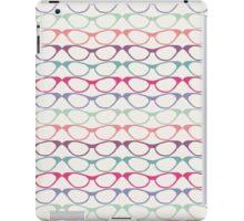 Cat Eye Glasses Pattern - Retro Waves of Color iPad Case/Skin