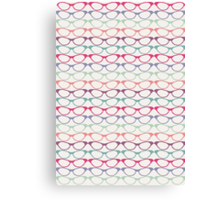 Cat Eye Glasses Pattern - Retro Waves of Color Canvas Print