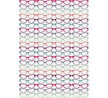 Cat Eye Glasses Pattern - Retro Waves of Color Photographic Print