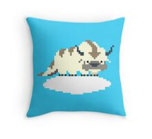 8-bit Appa on a Cloud Throw Pillow