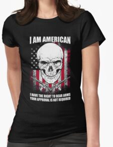 I AM AMERICAN Womens Fitted T-Shirt