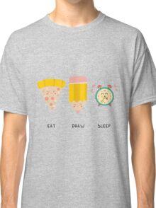 Eat, Draw, Sleep Classic T-Shirt
