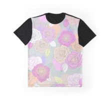Roses, painted floral pattern Graphic T-Shirt
