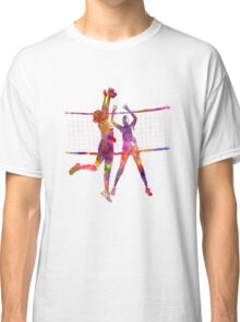 Women volleyball players in watercolor Classic T-Shirt