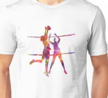 Women volleyball players in watercolor Unisex T-Shirt