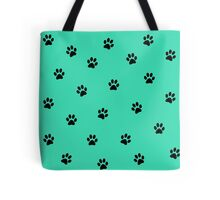 Puppy mania in blue Tote Bag
