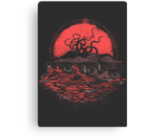 Tentacle Wars Canvas Print