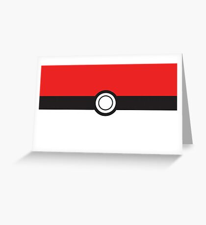 Pokemon ball Greeting Card