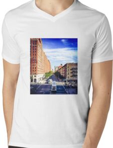 Looking down from The Highline, 2 Mens V-Neck T-Shirt