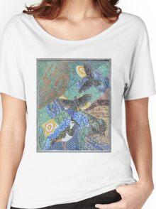 Seaside bird mosaic pattern Women's Relaxed Fit T-Shirt