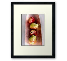 Four Pears on Copper Framed Print