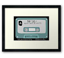 Pop 101: Cassette Framed Print