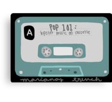Pop 101: Cassette Canvas Print
