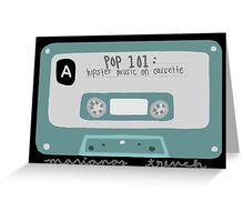 Pop 101: Cassette Greeting Card