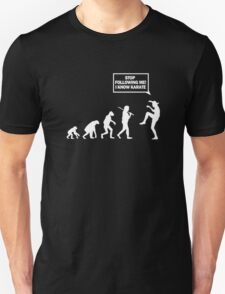 funny_karate evolution Unisex T-Shirt