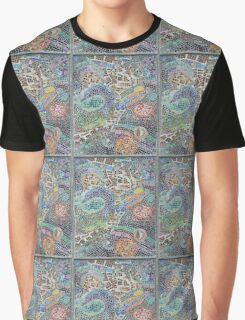 Seaside, underwater themed mosaic 3 Graphic T-Shirt