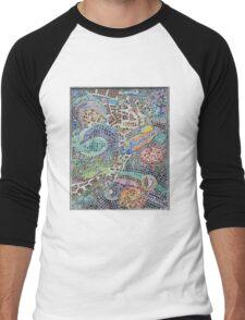 Seaside, underwater themed mosaic 3 Men's Baseball ¾ T-Shirt