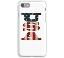 USA Flag Letters iPhone Case/Skin