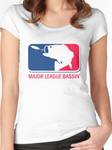 Major League Bass funny fishing Women's Fitted Scoop T-Shirt
