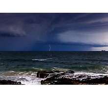 Approaching Thunder Storm Photographic Print