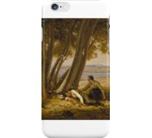 William Sidney Mount (American, 1807-1868). Caught Napping (Boys Caught Napping in a Field), . iPhone Case/Skin