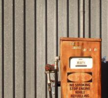 rusty petrol pump Sticker