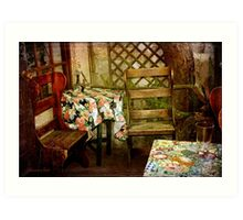 Crooked Chair at the Corner Table Art Print