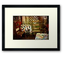 Crooked Chair at the Corner Table Framed Print