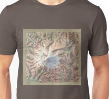 Vintage Mount Rainier Topographical Relief Map Washington Unisex T-Shirt