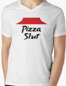 Pizza slut Mens V-Neck T-Shirt