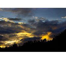 Sunrise Silhouette Photographic Print