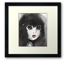 Vulnerable - Girl with Green Eyes Framed Print