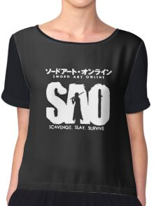 Sword Art Online Funny Logo Chiffon Top