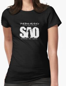 Sword Art Online Funny Logo Womens Fitted T-Shirt
