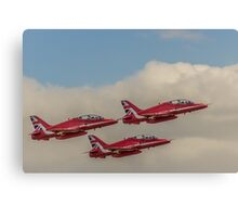 Three Red Arrows of the air Canvas Print