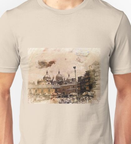 San Francisco Square And Immaculate Conception Cathedral Unisex T-Shirt