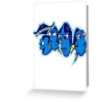 Blue Tang Clan Greeting Card