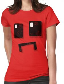 Simplistic Face Womens Fitted T-Shirt