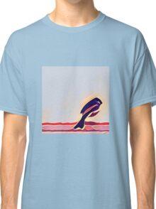 Blue bird on a fence Classic T-Shirt