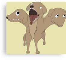 Cute Dumb Cerberus Canvas Print