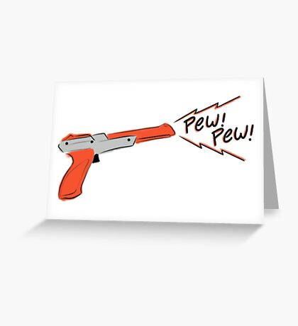 Cute Nes gun Greeting Card